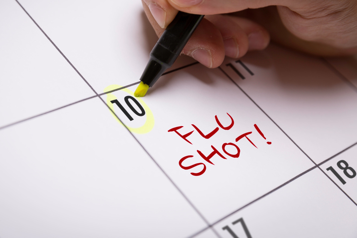 image of flu shot schedule